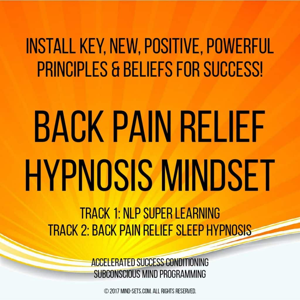 Back Pain Relief Hypnosis Mindset