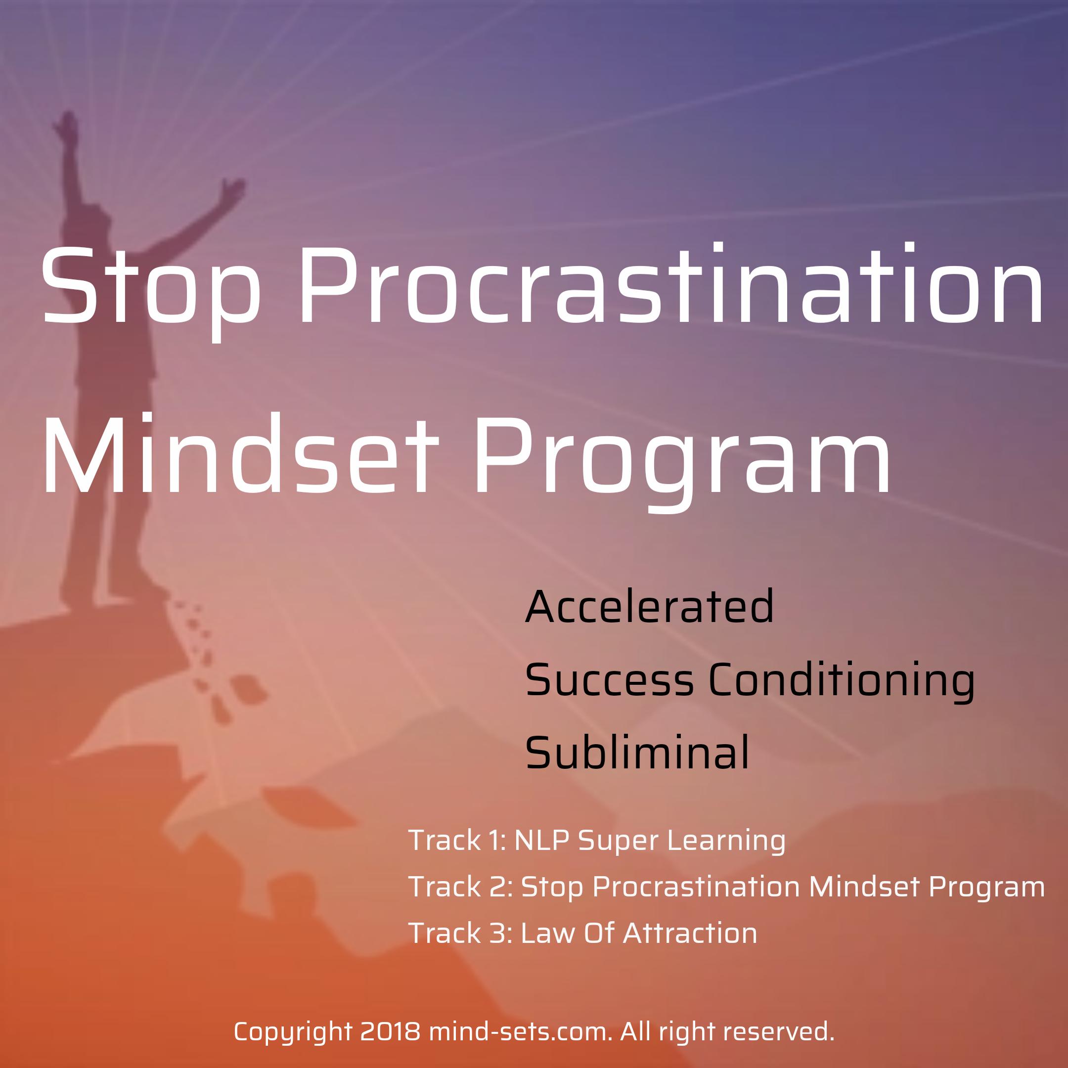 Stop Procrastination Mindset Program